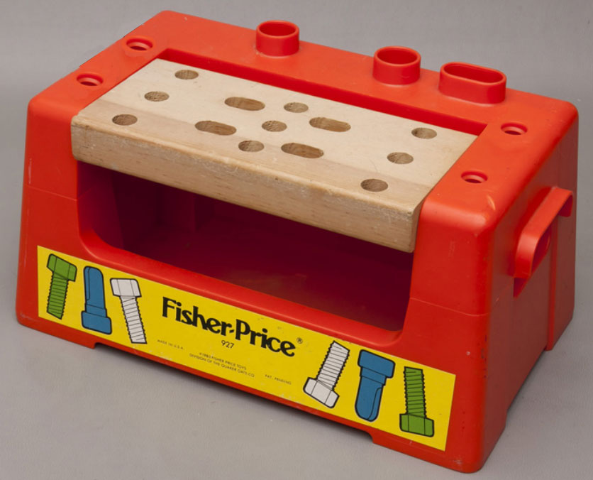 Fisher price tool bench workshop this old toy s fisher price construction site tools Fisher price tool bench